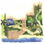 Cayucos, CA -  Backyard Landscape Plan